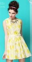 Free shipping 2014 summer new fashion women elegant organza dress,party dress,european style,ball gown dress
