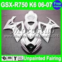 7gifts Unpainted Full Fairing Kit For SUZUKI GSX-R750 06-07 GSXR750 GSXR 750 GSX R750 K6 06 07 2006 2007 2006-2007 Fairings