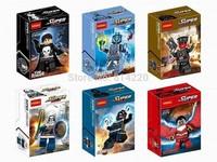 Action Figures Decool 0169-174 superhero minifigures TASKMASTER RED SKULL Building block toys Educational bricks figure