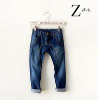 New 2014 Spring Brands Za Boy Jeans Kid Denim Pants Dark Wash