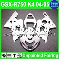 7gifts Unpainted Full Fairing Kit For SUZUKI GSX-R750 04-05 GSX R750 GSXR750 GSXR 750 GSX- R750 K4 04 05 2004 2005 Fairings