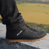 Free Shipping Autumn and winter male british style casual shoes cotton thermal shoes high-top shoes men cotton boots