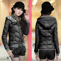 2014 down cotton-padded jacket wadded jacket women's  winter outerwear short design thin slim small ladies coat jacket