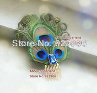 curled Peacock hair comb Feather Fascinator hair clip Headpiece bride Fascinator Bridesmaids Fascinator hair piece 10pcs