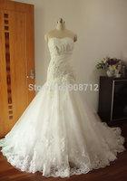 Hot Sell ! A-line Strapless Tulle Bridal Dress Wedding, Fashion Wedding Dress ,Custom Made