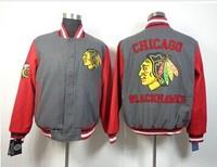 Free shipping wholesale Chicago Blackhawks stitched hockey jacket  good quality