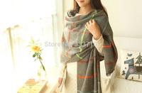 Free shipping  wholesale Autumn winter British Institute  style soft warm wool scarf  unisex