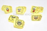 Cute SpongeBob Squarepants Cartoon Design Small Erasers Eraser