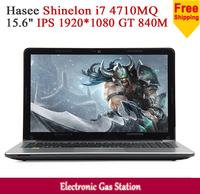 "New Hasee Shinelon Intel i7 4710MQ 4GB RAM 1TB HDD 15.6"" IPS 1920*1080 NVIDIA GT 840M USB3.0 Game Laptop"