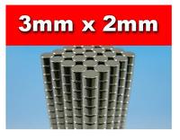 Disc Rare Earth Neodymium Magnets N50 3mm x 2mm