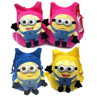 Free shipping Despicable Me Minion Cute Children kids cartoon school bags backpack students schoolbag children Students bags