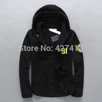 2014 autumn and winter men's clothing sweatshirt FBI fashion male hooded jacket outerwear free shipping