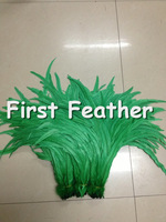 New arrival !Wholesale 35-40cm/14-16inch green Rooster Tail Feather 100pcs/lot Dress/Hats Trims Accessories Rooster Plume TH48