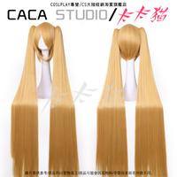 Dekomori Sanae 120cm Gold Long Straight Heat Resistance Synthetic Hair Cosplay Costume Wig