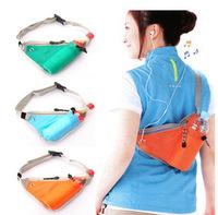 Hot Sell Unisex Nylon School Sports Waist Belt Zip Pouch Shoulder Sling Back Pack Bag Travel Free Shipping