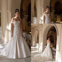 Luxurious Sweetheart Beadwork Long Train Wedding Dresses 2014 New Arrival Backless Bridal Gowns New Arrival