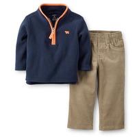 Original Carter's Baby Boys Spring Autumn 2 Pieces Fleece Pullover & Corduroy Pant Set, Carters Clothing Set, Freeshipping