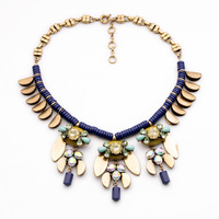 2014 Fall Designer Navy Blue Beads Fly  Bee Statement Necklace