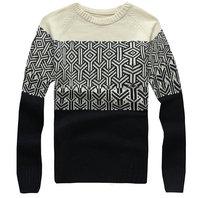 New arrival autumn winter o-neck sweater for men slim hot knitted pullover for men