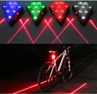 2014 New 4 Colors MTB Bike Bicycle Cycling 8 LED 2 Laser Beam Taillight 3 Modes Rechargeable  Battery Safety Rear Warning Lamp