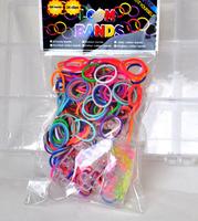 Hot Sell DIY Loom Rubber Bands Loom Bands Refills Magic Crazy Twistz Bandz (300 bands+ 12 S-Clips+1 Hook/Pack+waving frame)