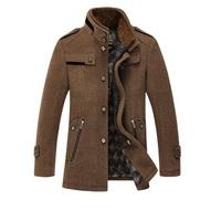2014 New Men'S Autumn And Winter Natural Wool Coat Slim Fit Casual Fashion Brand Woolen Jackets Men'S Woolen Coat XG-169