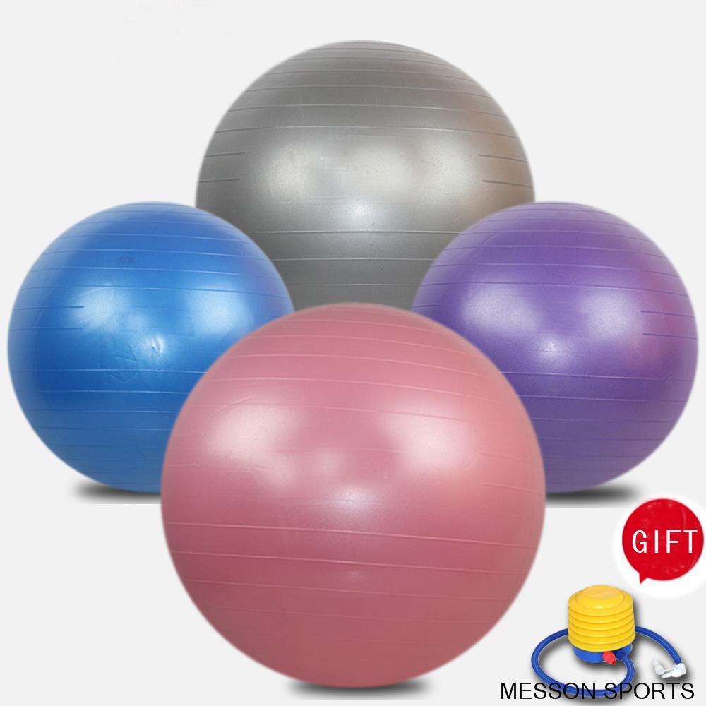New Yoga Ball 55cm 65cm 75cm Health Balance Pilates Fitness Gym Home Exercise Sport ball with Air Pump,three Colors(China (Mainland))
