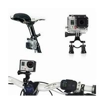 Black Bike Moto Cycle Handlebar Seatpost Pole Bicycle Mount Holder Adapter Go Pro Set Accessory For Camera GoPro HD Hero 1 2 3+