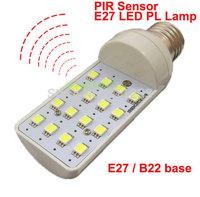 PIR Sensor Motion Sensor Optical Sensor LED Light Bulb E27 B22 5W White Warm White Colors 180-250V Input