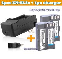 Kamera akku batterie 2pcs 1800mAh EN-EL3e EN EL3e Digital Camera Battery + charger For Nikon D50 D70 D200 D300 DSLR D700