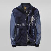 2014 new high quality uniform lovers design baseball shirt HARAJUKU embroidery Japanese Pu leather outerwear free shipping