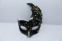 2014 prom princess embroidery flower lace rhinestone mask black male Women phoeni mask