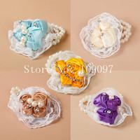 free shipping  wedding wrist flower pearl wedding wrist flower