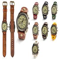 7 color original high quality leather vintage women's clothing watches, quartz bracelet watch free generation send of orders