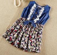 6pieces/lot, Summer little Girl sleeveless demin Dresses, Kids Dress,  A-fg089
