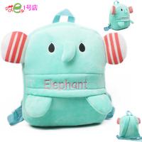 Age 3-5 boys girls soft plush bag mint elephant kindergarten child school backpack middle size quality gift p56