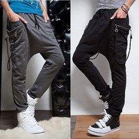 Wholesale Men's Cotton Sport Harem Pants Joggers Sweatpants For Men Sport Wear Baggy Trousers Young Man Hip Hop Pants