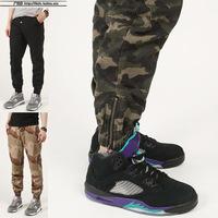Dnine summer army fashion hanging crotch jogger pants patchwork harem pants men crotch big Camouflage pants trousers HOT