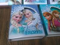 Frozen Diary Book With lock 48pcs/lot Book Student Block Diary Notebook Frozen Elsa Princess Frozen Anna Book 13*16.5cm IN STOCK