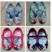 1Pair Retail Frozen Elsa Princess Shoes for Girls Size 25-30 Little Girl Frozen Shoes 4 Designs RED BLUE PURPLE IN STOCK