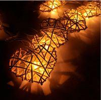 LAMP-0140 Rattan Heart Balls String Lights/Fairy/Lamp Handmade For Home/Christmas Decor/Lighting, LED Available, CE/GS/SAA/UL