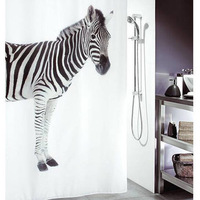 2014 NEW ! PEVA Waterproof Fashion Star Bathroom Shower curtain 180cm*180cm square zebra