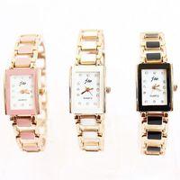 Martian man 2014 new arrival fashion women Rose gold diamond bracelet hollow square watch free shipping D0078