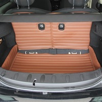 wear -resistant PU environmental leather Mini 2 MINI CLUBMAN COOPER trunk mat+seat back cushion full surrounded