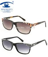oculos feminino 2014 Hand Made Acetate Luxury Sunglass Women Nature Color Leopard  Fashion Glasses