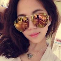 2014 Free shipping Vintage multicolour reflective sunglasses mirror surface 2014 large sunglasses sun glasses
