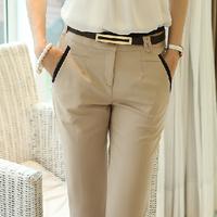 Autumn women's trousers 2014 female casual pants plus size slim pencil pants ol tooling