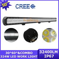 24V Cree LED Off-road Bar Spot Flood Beam Combo Camper 108X3W 32400lm Truck SUV 12V 4X4 Work Light Car AWD 324W 4WD Wagon