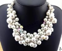 Fashion Jewelry multi-layer pearl necklace female short design of luxury fashion decoration accessories chain statement women 9