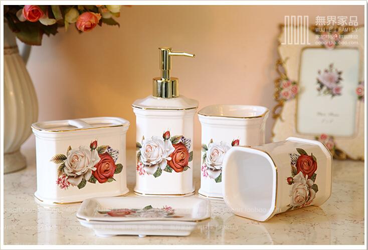 European ceramic sanitary ware five pieces of kit toothbrush rack 008(China (Mainland))